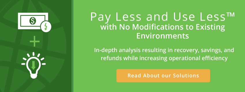pay less and use less with no modifications to existing environments